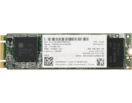 """Внутренний SSD-накопитель Intel 540 Series 240GB 2"""", M.2 SATA-III TLC, Серый SSDSCKKW240H6X1 от Нотик"""