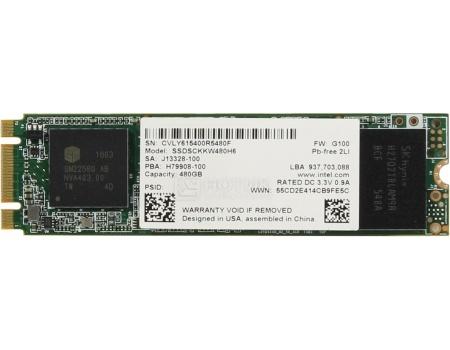 """Внутренний SSD-накопитель Intel 540 Series 480GB 2"""", M.2 SATA-III TLC, Серый SSDSCKKW480H6X1 от Нотик"""