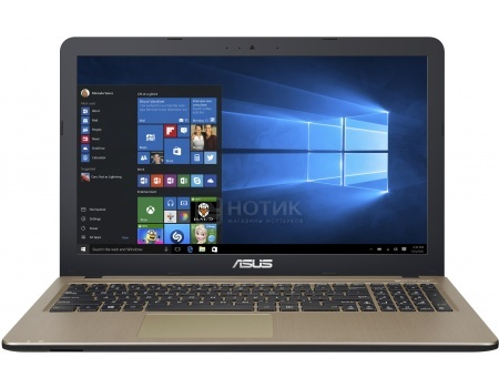Ноутбук ASUS X540SA-XX032T (15.6 LED/ Pentium Quad Core N3700 1600MHz/ 2048Mb/ HDD 500Gb/ Intel HD Graphics 62Mb) MS Windows 10 Home (64-bit) [90NB0B31-M00800]