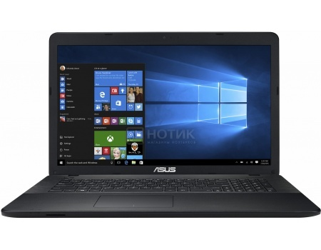 Ноутбук ASUS X751SA-TY006T (17.3 LED/ Pentium Quad Core N3700 1600MHz/ 4096Mb/ HDD 500Gb/ Intel HD Graphics 64Mb) MS Windows 10 Home (64-bit) [90NB07M1-M01350]