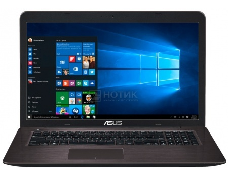 Ноутбук Asus K756UJ (17.3 LED/ Core i3 6100U 2300MHz/ 6144Mb/ HDD 1000Gb/ NVIDIA GeForce 920M 2048Mb) MS Windows 10 Home (64-bit) [90NB0A21-M00890]