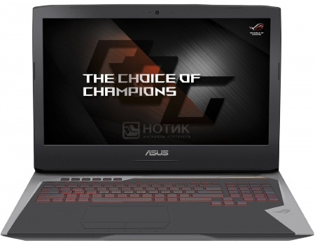 Ноутбук Asus G752VS (17.3 IPS (LED)/ Core i7 6820HK 2700MHz/ 65536Mb/ HDD+SSD 1000Gb/ NVIDIA GeForce GTX 1070 8192Mb) MS Windows 10 Home (64-bit) [90NB0D71-M00940]