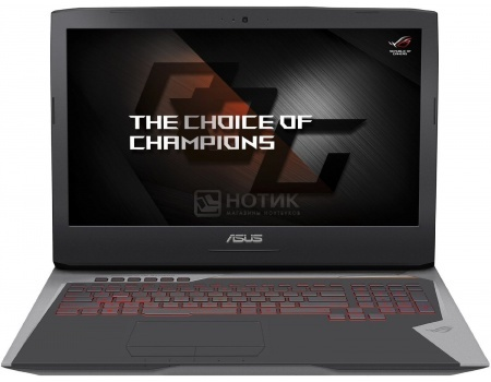 Ноутбук Asus G752VS (17.3 IPS (LED)/ Core i7 6820HK 2700MHz/ 65536Mb/ HDD+SSD 1000Gb/ NVIDIA GeForce GTX 1070 8192Mb) MS Windows 10 Home (64-bit) [90NB0D71-M00930]