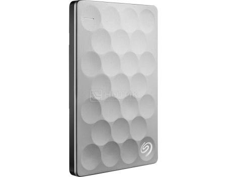 """Внешний жесткий диск Seagate 1Tb Ultra Slim STEH1000200 2.5"""" USB 3.0 Серебристый (Платина)"""