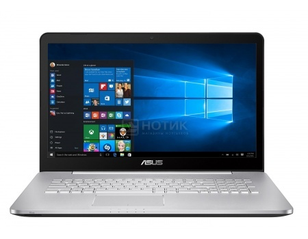 Ноутбук Asus N752VX-GC218T (17.3 IPS (LED)/ Core i5 6300HQ 2300MHz/ 4096Mb/ HDD 1000Gb/ NVIDIA GeForce GTX 950M 4096Mb) MS Windows 10 Home (64-bit) [90NB0AY1-M02530]