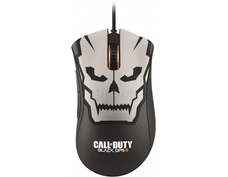 Мышь проводная DeathAdder Chroma Call of Duty Black Ops 3, 10000dpi, USB, 2,1m, Черный/Белый RZ01-01210200-R3M1