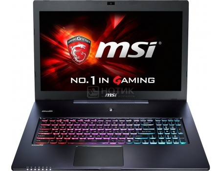 Ноутбук MSI GS72 6QE-426XRU Stealth Pro (17.3 LED (с широкими углами обзора IPS - level)/ Core i7 6700HQ 2600MHz/ 8192Mb/ HDD+SSD 1000Gb/ NVIDIA GeForce GTX 970M 3072Mb) Free DOS [9S7-177514-426]MSI<br>17.3 Intel Core i7 6700HQ 2600 МГц 8192 Мб DDR4-2133МГц HDD+SSD 1000 Гб Free DOS, Черный<br>