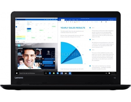 Ноутбук Lenovo ThinkPad 13 (13.3 LED/ Core i3 6100U 2300MHz/ 4096Mb/ SSD 128Gb/ Intel HD Graphics 520 64Mb) Free DOS [20GJ004BRT]