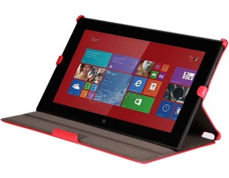 Чехол-подставка IT Baggage для планшета Asus Transformer Book T100/T100HA, Искусственная кожа, Красный ITAST1001-3