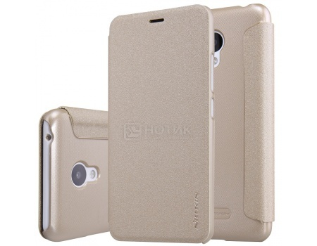 Чехол-книжка Nillkin Flip Cover для Meizu M3s Mini, Пластик/искусственная кожа, Gold, Золотистый, NLK-874004Y0487