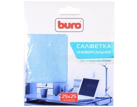 Салфетка Buro из микрофибры, 25 х 25 см для удаления пыли, 1шт сухая BU-MF