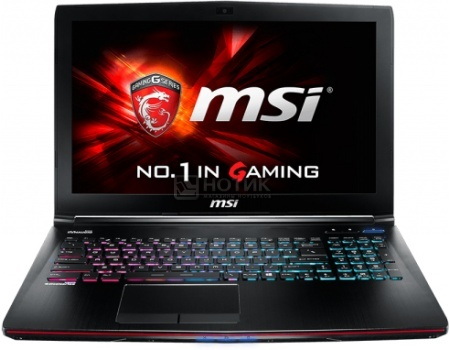 Фотография товара ноутбук MSI GE62 2QF-426RU Apache Pro (15.6 LED (IPS - level)/ Core i7 5700HQ 2700MHz/ 8192Mb/ HDD 1000Gb/ NVIDIA GeForce® GTX 970M 3072Mb) MS Windows 10 Home (64-bit) [9S7-16J112-426] (47445)