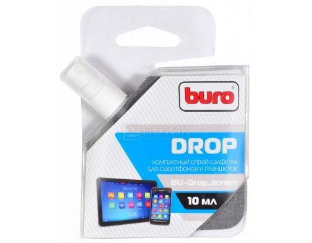 Фотография товара чистящий спрей Buro для мобильных устройств 10мл, BU-Drop_screen (47486)