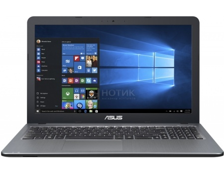 Ноутбук Asus R540SC (15.6 LED/ Pentium Quad Core N3700 1600MHz/ 4096Mb/ HDD 1000Gb/ NVIDIA GeForce GT 810M 1024Mb) MS Windows 10 Home (64-bit) [90NB0B23-M00230]