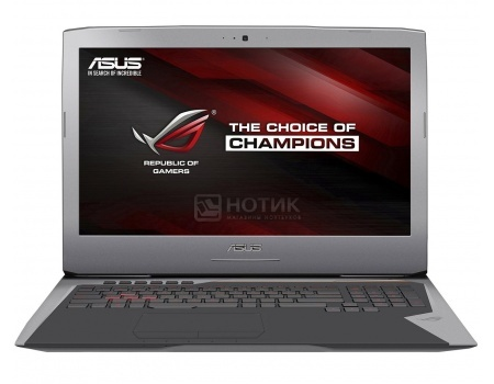 Ноутбук Asus G752VM (17.3 IPS (LED)/ Core i7 6700HQ 2600MHz/ 8192Mb/ HDD+SSD 1000Gb/ NVIDIA GeForce GTX 1060 6144Mb) MS Windows 10 Home (64-bit) [90NB0D61-M00430]