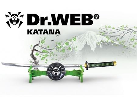 Электронная лицензия Dr.Web Katana, Продление на 24 мес на 2 ПК