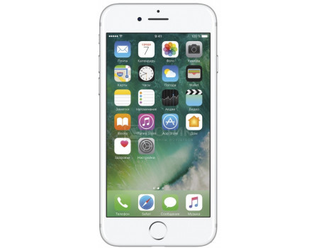 "Фотография товара смартфон Apple iPhone 7 128Gb Silver (iOS 10/A10 Fusion 2340MHz/4.7"" 1334x750/2048Mb/128Gb/4G LTE ) [MN932RU/A] (47605)"
