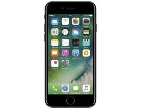 "Фотография товара смартфон Apple iPhone 7 128Gb Jet Black (iOS 10/A10 Fusion 2340MHz/4.7"" 1334x750/2048Mb/128Gb/4G LTE ) [MN962RU/A] (47608)"