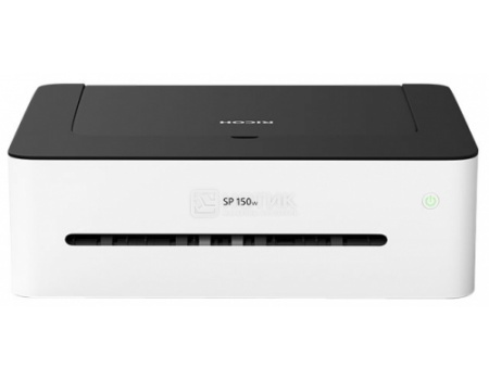 Принтер лазерный монохромный Ricoh SP 150w, A4, 22 стр/мин, 64Мб, USB, Wi-Fi Белый/Черный 408004