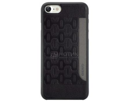 Чехол-накладка + место для карты для iPhone 7 Ozaki O!coat 0.3 + Pocket OC737BK, Пластик/полиуретан, Черный
