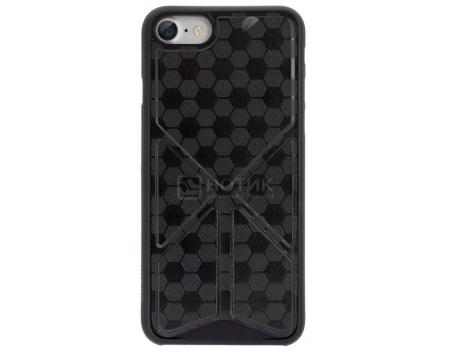 Чехол-накладка + подставка для iPhone 7 Ozaki O!coat 0.3 + Totem Versatile OC777BK, Пластик/полиуретан, Черный