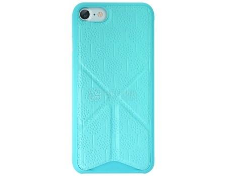 Чехол-накладка + подставка для iPhone 7 Ozaki O!coat 0.3 + Totem Versatile OC777BU, Пластик/полиуретан, Синий