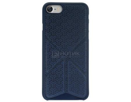 Чехол-накладка + подставка для iPhone 7 Ozaki O!coat 0.3 + Totem Versatile OC777DB, Пластик/полиуретан, Темно-синий