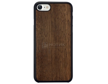 Чехол-накладка для iPhone 7 Ozaki O!coat 0.3 + Wood (вставка из шпона)  OC736EB, Пластик/дерево, Темно-коричневый
