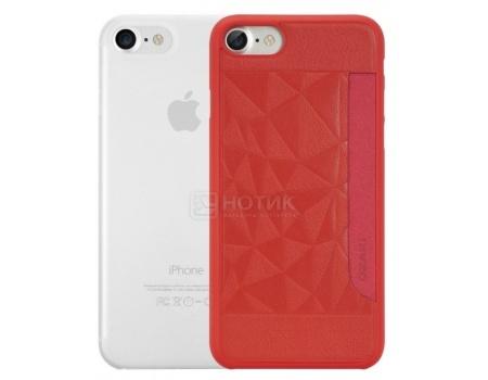 Набор из двух чехлов Ozaki Jelly и Ozaki Pocket для iPhone 7 OC722RC, Пластик, Прозрачный/Красный