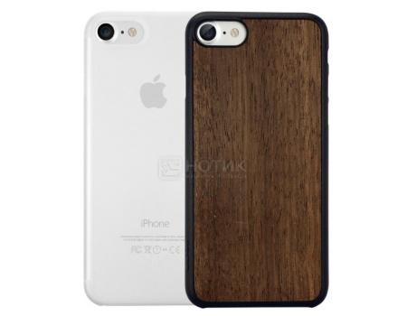 Набор из двух чехлов Ozaki Jelly и Ozaki Wood для iPhone 7 OC721EC, Пластик/Дерево, Прозрачный/Коричневый