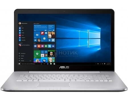 Ноутбук Asus N752VX (17.3 IPS (LED)/ Core i7 6700HQ 2500MHz/ 8192Mb/ HDD+SSD 1000Gb/ NVIDIA GeForce® GTX 950M 4096Mb) MS Windows 10 Professional (64-bit) [90NB0AY1-M03180]