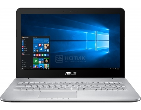 Ноутбук ASUS N552VW-FY242R (15.6 IPS (LED)/ Core i5 6300HQ 2300MHz/ 8192Mb/ HDD 1000Gb/ NVIDIA GeForce® GTX 960M 4096Mb) MS Windows 10 Professional (64-bit) [90NB0AN1-M03040]