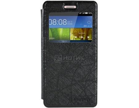 Чехол-книжка IT Baggage для смартфона Huawei P8 Lite, Искусственная кожа, Черный
