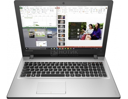 Ноутбук Lenovo IdeaPad 300-15 (15.6 LED/ Pentium Quad Core N3710 1600MHz/ 2048Mb/ HDD 500Gb/ NVIDIA GeForce GT 920M 1024Mb) MS Windows 10 Home (64-bit) [80M300MURK]