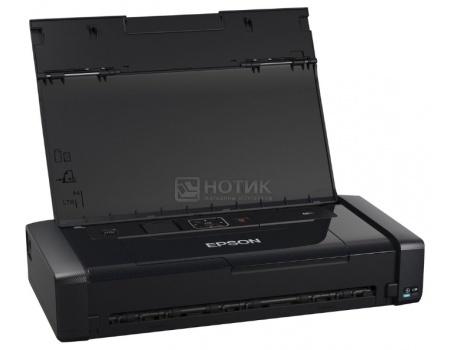 Принтер струйный цветной мобильный Epson WorkForce WF-100W, A4, 14/11стр/мин, USB, WiFi,Черный C11CE05403