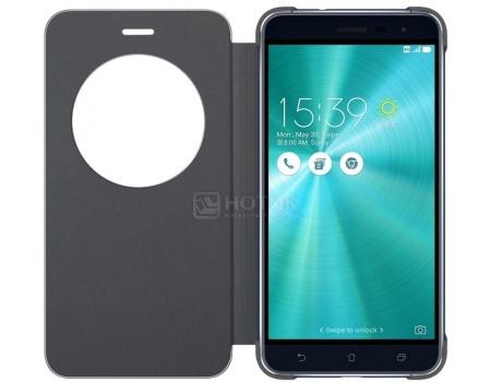Чехол-книжка для Asus ZenFone 3 View Flip Cover для ZE520KL, Полиуретан/Поликарбонат, Black, Черный 90AC01D0-BCV004
