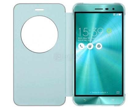 Чехол-книжка для Asus ZenFone 3 View Flip Cover для ZE520KL, Полиуретан/Поликарбонат, Blue, Синий 90AC01D0-BCV012 чехол asus бампер для asus zenfone 2 blue
