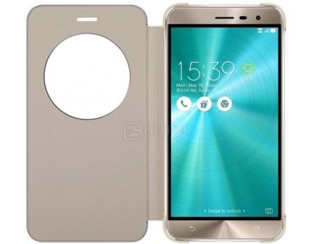 Чехол-книжка для Asus ZenFone 3 View Flip Cover для ZE552KL, Полиуретан/Поликарбонат, Gold, Золотистый 90AC0160-BCV008