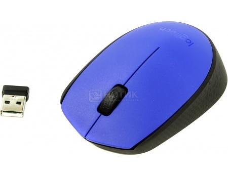 Мышь беспроводная Logitech M171 , 1000dpi, Синий 910-004640