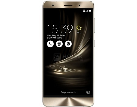 Смартфон Asus Zenfone 3 Deluxe ZS570KL (Android 6.0 (Marshmallow)/MSM8996 2150MHz/5.7 (1920x1080)/6144Mb/64Gb/4G LTE 3G (EDGE, HSDPA, HSPA+)) [90AZ0161-M00110]
