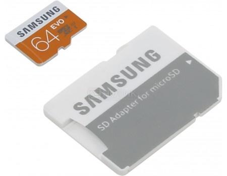 Карта памяти Samsung microSDXC 64GB EVO Class 10 UHS-I + SD адаптер MB-MP64DA/RU