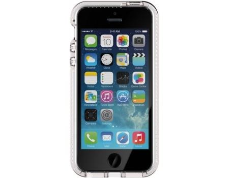 Чехол-накладка Tech21 Evo Mesh для iPhone 5/5S/SE T21-5169, Пластик, Прозрачный/Белый