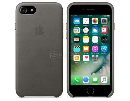 Чехол-накладка Apple Leather Case Storm Gray для iPhone 7 MMY12ZM/A, Кожа, Серый