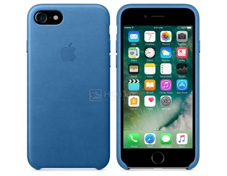 Чехол-накладка Apple Leather Case Sea Blue для iPhone 7 MMY42ZM/A, Кожа, Синий