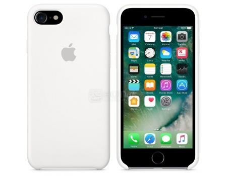 Чехол-накладка Apple Silicone Case White для iPhone 7 MMWF2ZM/A, Силикон, Белый