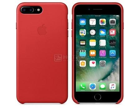 Чехол-накладка Apple Leather Case Red для iPhone 7 Plus MMYK2ZM/A, Кожа, Красный