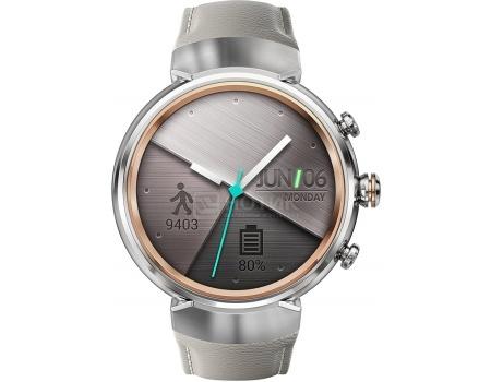 Смарт-часы ASUS ZenWatch 3 WI503Q Silver, Серебристый (кожаный ремешек) WI503Q-2LBGE0006 90NZ0063-M00160 asus zenwatch 3 wi503q silicon
