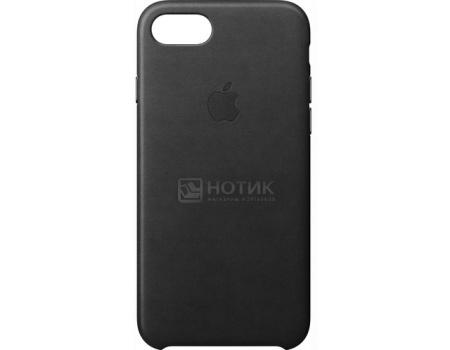 Чехол-накладка Apple Leather Case Black для iPhone 7 MMY52ZM/A, Кожа, Черный