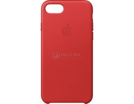 Чехол-накладка Apple Leather Case Red для iPhone 7 MMY62ZM/A, Кожа, Красный