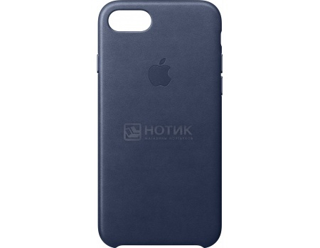 Чехол-накладка Apple Leather Case Midnight Blue для iPhone 7 Plus MMYG2ZM/A, Кожа, Темно-синий plus size lace waist backless tank dress
